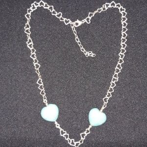 Jewelry - Silver/Turquoise Heart Necklace